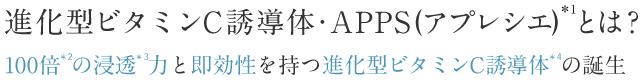 進化型ビタミンC誘導体・APPS(アプレシエ)とは?