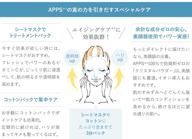 APPSの真の力を引きだすスペシャルケア
