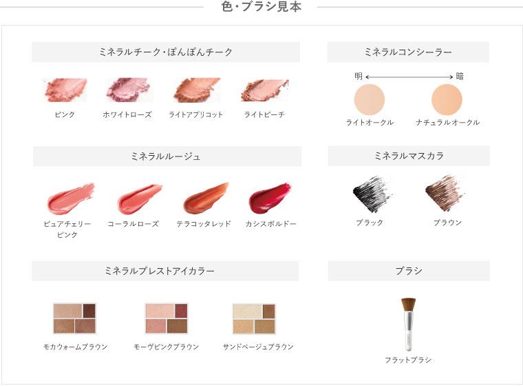 色見本・ブラシの種類